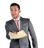 电话会议他提交的工作 库存图片