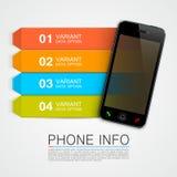 电话信息横幅 向量例证