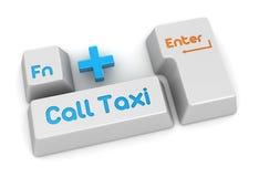 电话出租汽车按钮 免版税库存照片