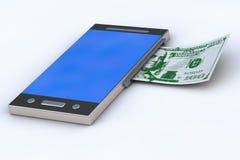 电话发表钞票 免版税图库摄影