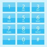电话号码平的设计 库存例证