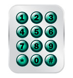 电话号码钥匙垫 库存图片