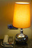 电话和台灯 免版税库存图片