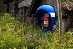 电话在村庄 免版税库存照片