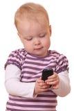 电话小孩 图库摄影