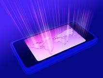 电话屏幕世界 图库摄影