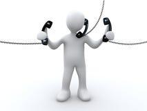 电话技术支持 库存例证