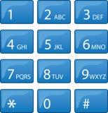电话拨号填充 皇族释放例证