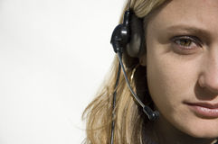 电话推销员 免版税图库摄影