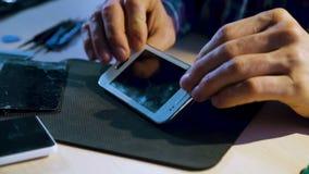 电话服务修理维护聚集 股票视频