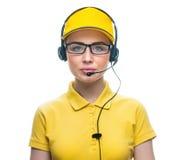 电话服务操作员 免版税库存图片
