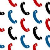 电话标志无缝的样式 库存照片