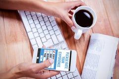 电话测试app的综合图象 免版税库存照片