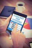 电话测试app的综合图象 免版税库存图片