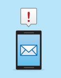 电话电子邮件通知 免版税库存照片