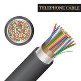 电话电缆结构 种类一个电缆 向量例证
