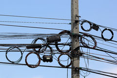 电话电缆 免版税库存图片