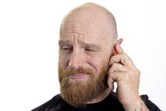电话的人 库存图片