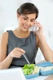 电话的女实业家 库存图片