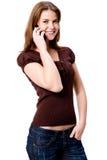 电话的妇女 图库摄影
