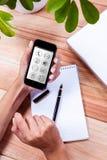 电话的综合图象有apps象的 图库摄影