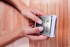 电话的综合图象有apps象的 免版税图库摄影