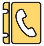 电话目录隔绝了可以容易地修改或编辑的传染媒介象 皇族释放例证