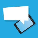 电话空白的讲话泡影 免版税库存图片