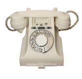 电话葡萄酒白色 免版税库存照片