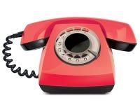 电话葡萄酒,被隔绝。传染媒介例证 免版税库存图片