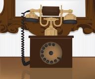 电话葡萄酒 库存例证