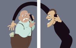电话诈欺 免版税库存图片
