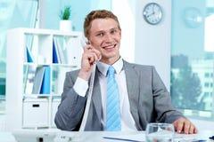电话谈话 免版税库存图片