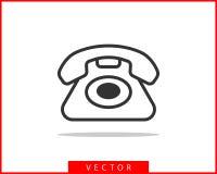 电话象传染媒介例证 电话中心应用程序 电话象时髦平的样式 与我们联系线剪影 库存例证