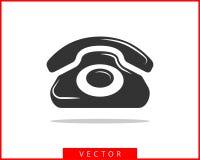 电话象传染媒介例证 电话中心应用程序 电话象时髦平的样式 与我们联系线剪影 向量例证