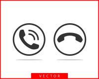 电话象传染媒介例证 电话中心应用程序 电话象时髦平的样式 与我们联系线剪影 皇族释放例证