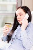 电话购货法 免版税库存照片