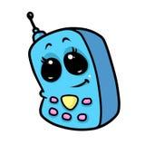 电话逗人喜爱的眼睛动画片 免版税图库摄影