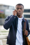电话非洲人人 库存照片