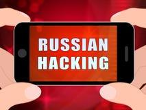 电话黑客网间谍活动戒备3d例证 皇族释放例证