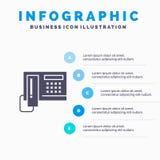 电话,电话,细胞,硬件Infographics介绍模板 5步介绍 皇族释放例证