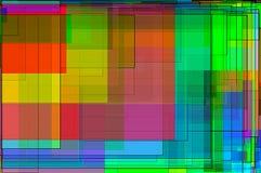 电路五颜六色的背景 库存图片