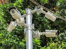 电路保护的电视摄象机 免版税库存照片