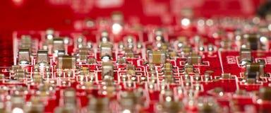 电路城市红色 图库摄影
