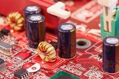 电路接近的要素电子  免版税库存图片