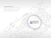 电路板传染媒介例证 免版税图库摄影
