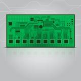 电路板传染媒介例证 库存照片