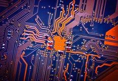 电路板电子为背景 免版税图库摄影