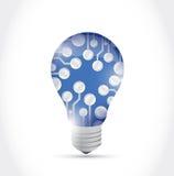 电路板电灯泡例证设计 免版税库存照片