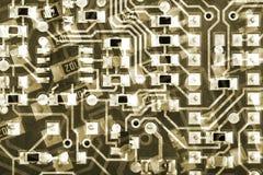 电路板背景样式 免版税库存照片